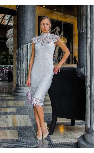 Бяла дантелена рокля Pure Love_14796
