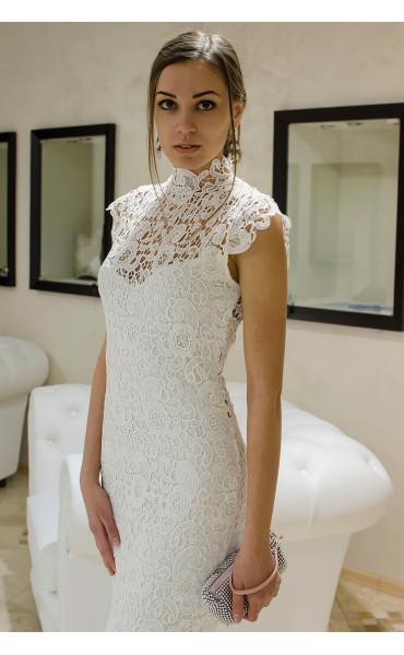 Бяла дантелена рокля Pure Love_14798