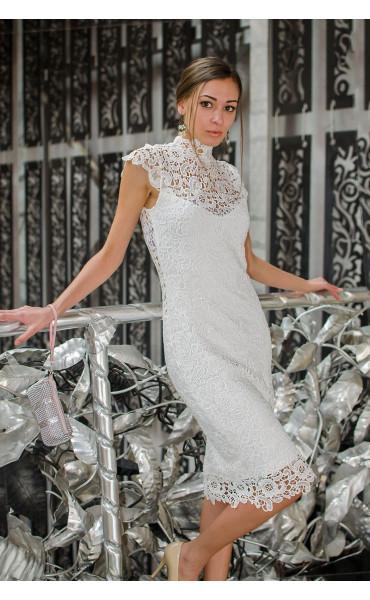 Бяла дантелена рокля Pure Love_14801