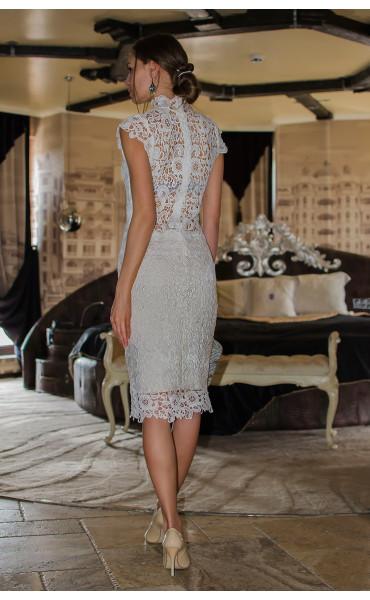 Бяла дантелена рокля Pure Love_14806