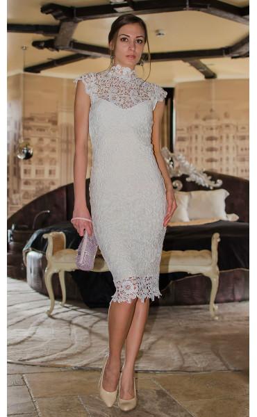 Бяла дантелена рокля Pure Love_14807