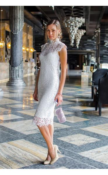 Бяла дантелена рокля Pure Love_14809