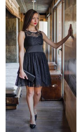 Къса дантелена рокля Изабела