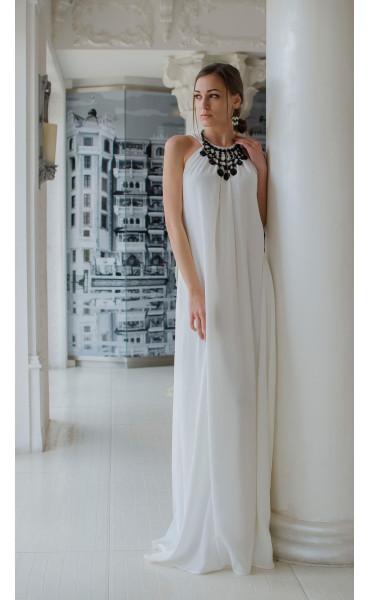 Бяла официална рокля Наполи_14843