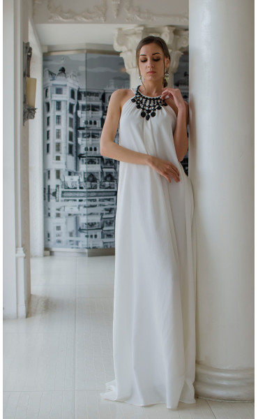 Бяла официална рокля Наполи_14844