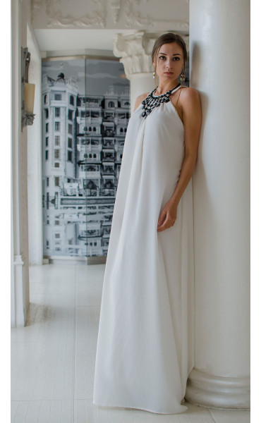 Бяла официална рокля Наполи_14845