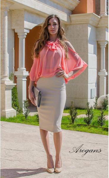 Ефирна блуза Корал _14898