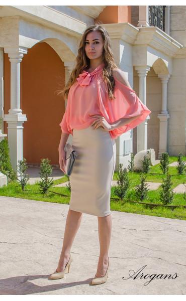 Ефирна блуза Корал _14899