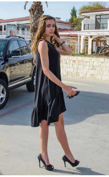 Свободна рокля с къдри_14952