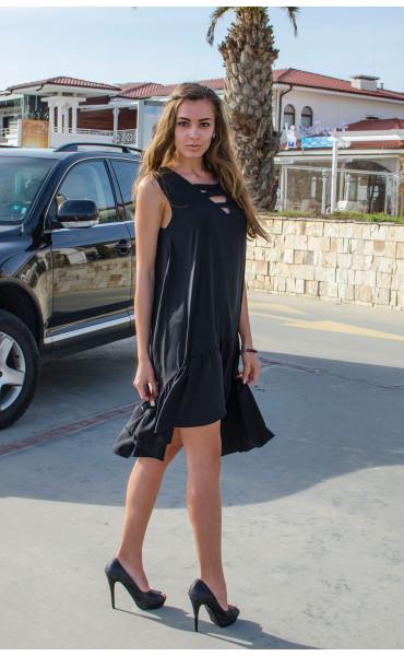 Свободна рокля с къдри_14953