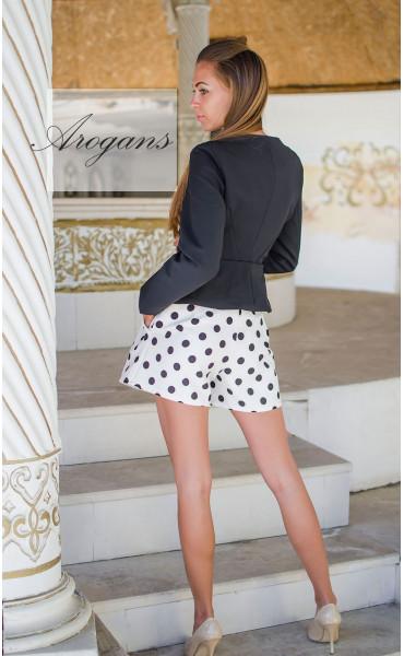 Блуза с принт Paris_15188