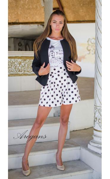 Блуза с принт Paris_15189