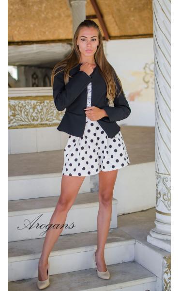 Блуза с принт Paris_15190