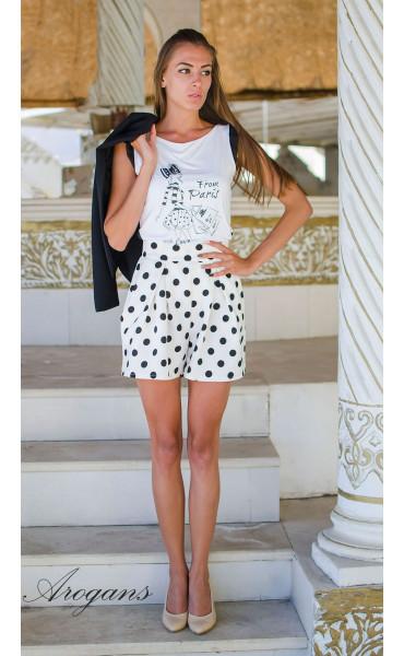 Блуза с принт Paris_15192
