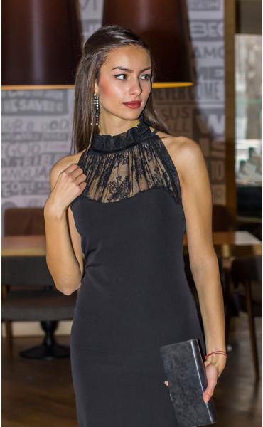 Елегантна рокля с дантела Саня