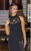 Елегантна черна рокля с дантела Саня