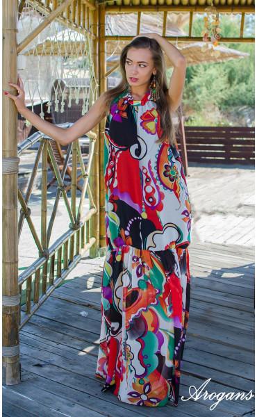 Дълга лятна рокля Tropicana_15324