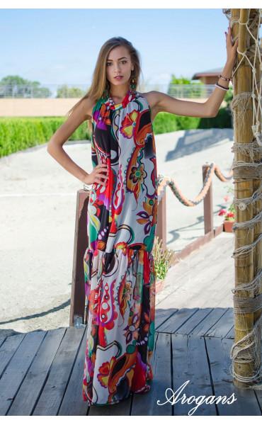 Дълга лятна рокля Tropicana_15328