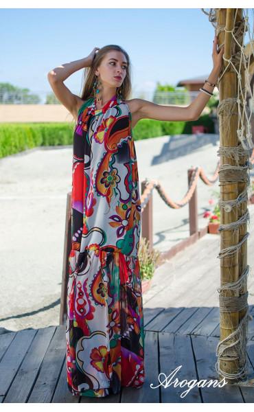 Дълга лятна рокля Tropicana_15329