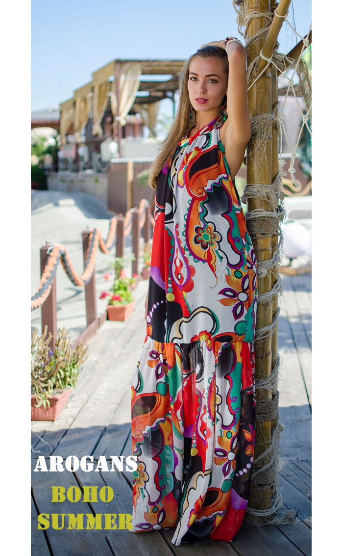 Дълга лятна рокля Tropicana
