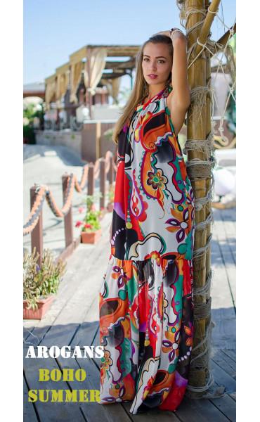 Дълга лятна рокля Tropicana_15331