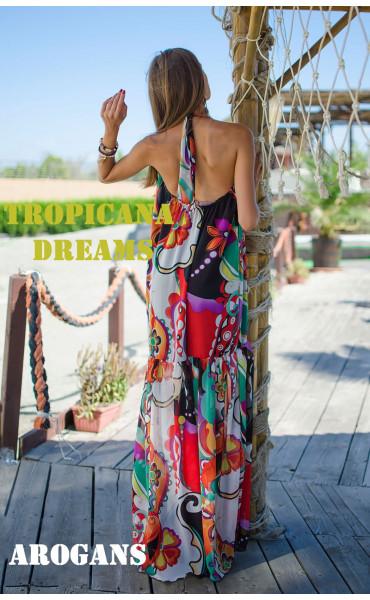 Дълга лятна рокля Tropicana_15333