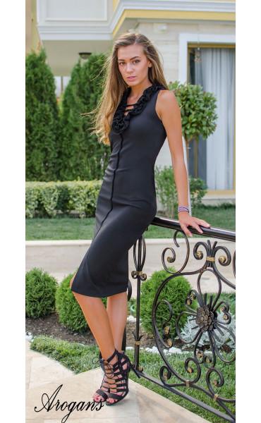 Елегантна рокля Black Swan_15450