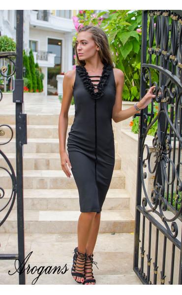 Елегантна рокля Black Swan_15454