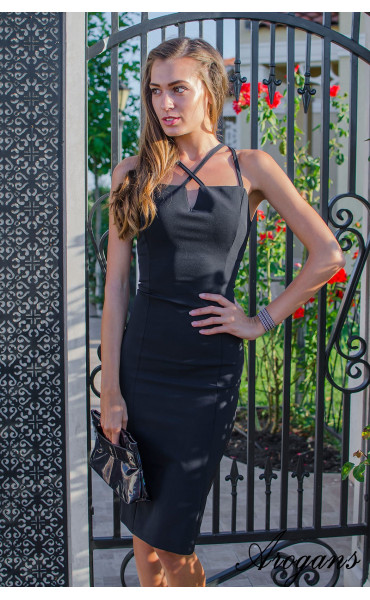 Елегантна рокля Black Queen_15457
