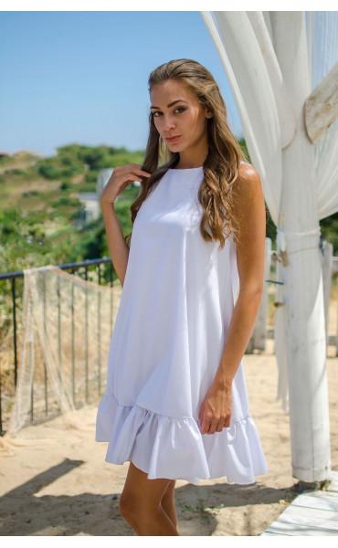 Свободна рокля White_15473