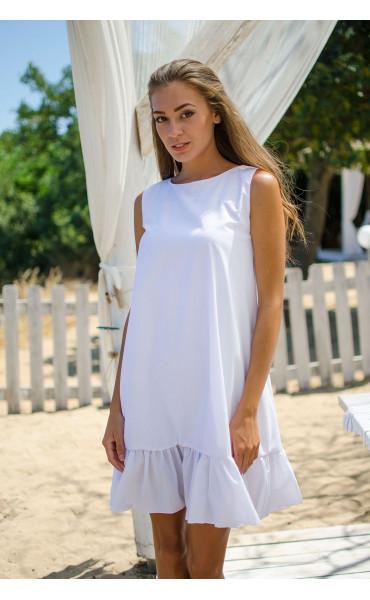 Свободна рокля White_15475