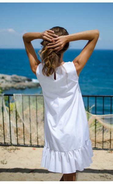 Свободна рокля White_15476