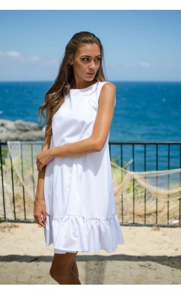 Свободна рокля White_15478