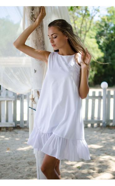 Свободна рокля White_15479