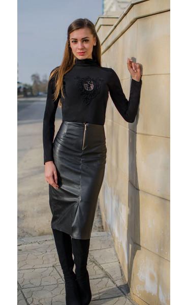 Елегантна блуза с дантела_15536