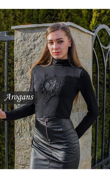 Елегантна блуза с дантела_15539