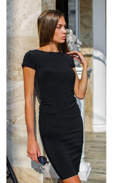 Класическа черна рокля с къси ръкави Little Black Dress_15542