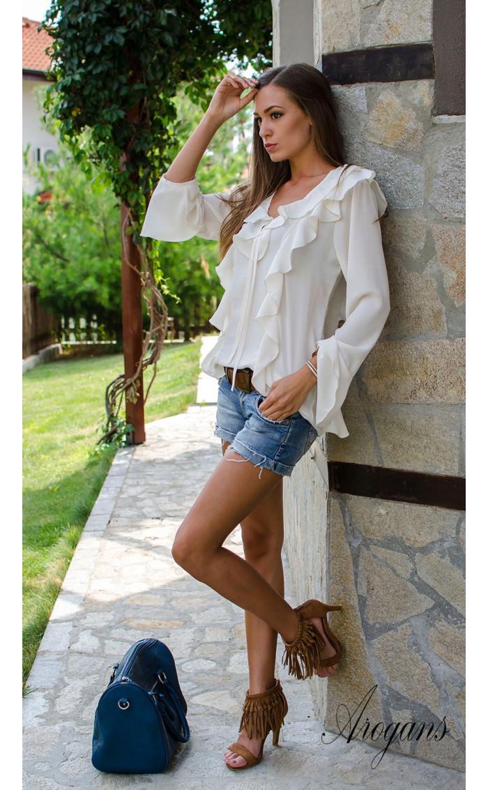 Ефирна бяла риза Vanilla