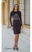 Елегантна делова рокля в два цвята