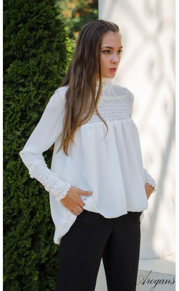 Спортно елегантна риза в бяло Caramel_15692