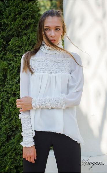Спортно елегантна риза в бяло Caramel_15694