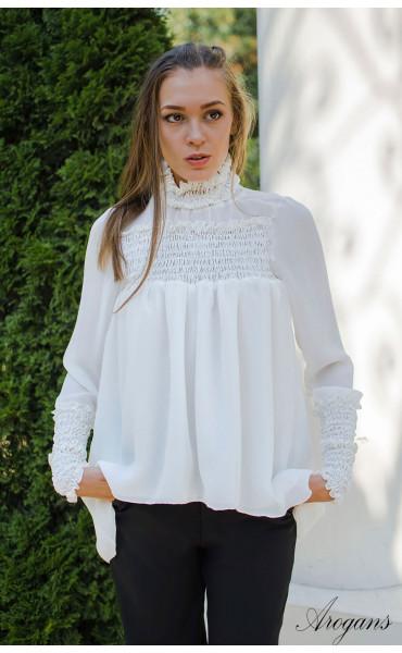 Спортно елегантна риза в бяло Caramel_15695