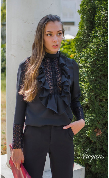 Официална риза в черен цвят Dark Chocolate_15703