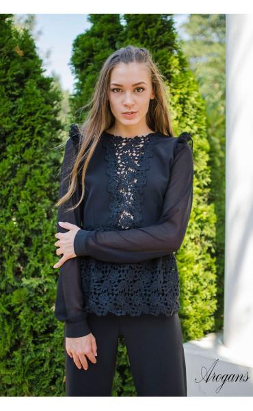 Официална черна риза French Chic_15711