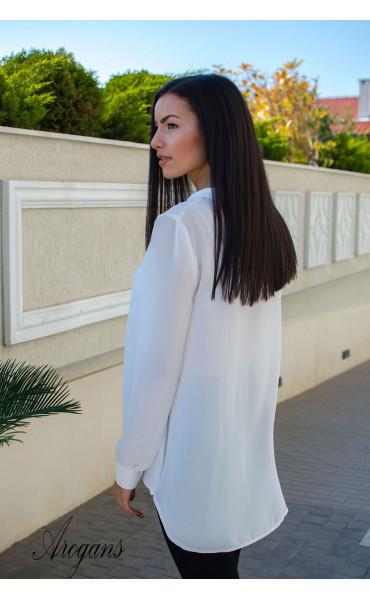 Ежедневна свободна бяла риза _15751