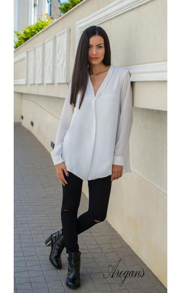Ежедневна свободна бяла риза _15753