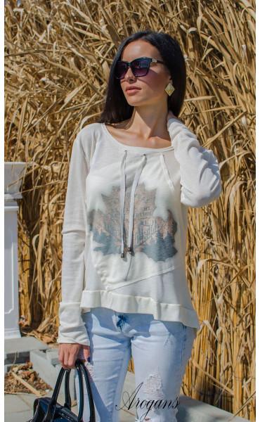 Мека блузка с есенна апликация _15757