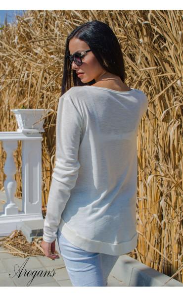 Мека блузка с есенна апликация _15758