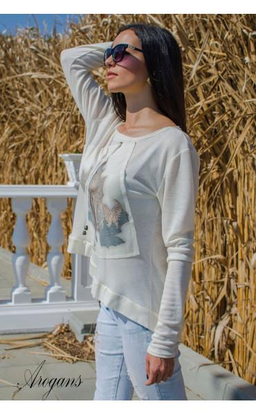 Мека блузка с есенна апликация _15759