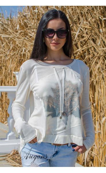 Мека блузка с есенна апликация _15760